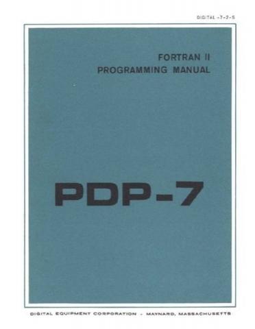 FORTRAN sobre el PDP 7