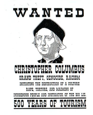 Columbus lands on Indigenous people's land