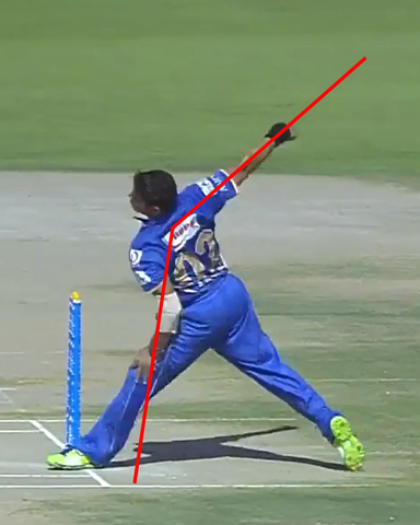 Straight arm bowling invented