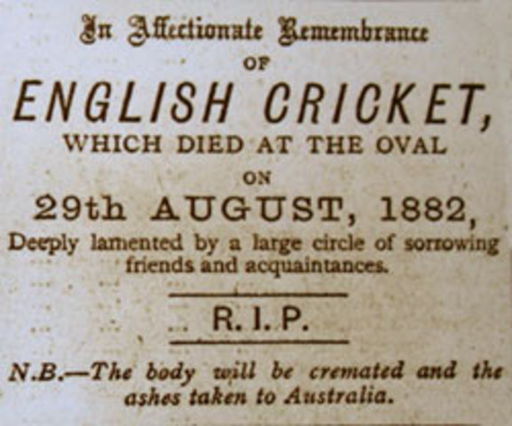The beginning of The Ashes
