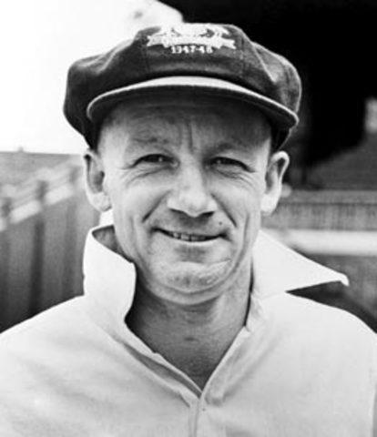 Don Bradman plays his first test match for Australia.