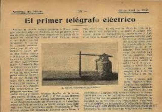 TELÉGRAFO ELÉCTRICO - Telecomunicaciones