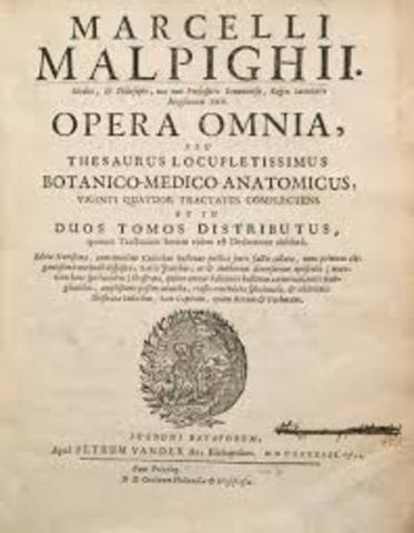 Se publican los apendices de Malpighi titulados De viscerum structura es De polipo cordis.
