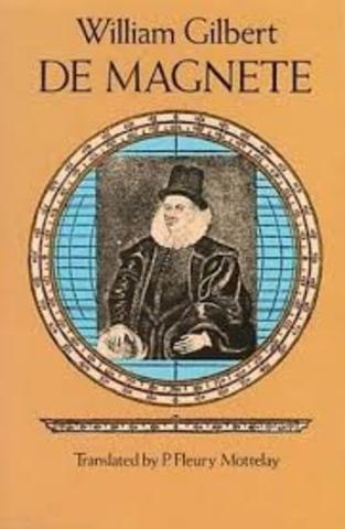 Gilbert publica su obra titulada El iman y los cuerpos magneticos.