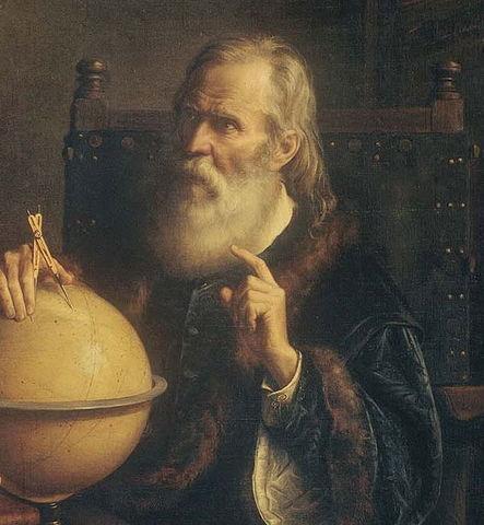 Galileo desarrolla el compás.