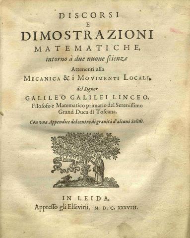 Louis Elzevir imprime en Leiden (de manera clandestina) la obra de Galileo Galilei Consideraciones y demostraciones matematicas sobre dos ciencias nuevas (denominado habitualmente Dos ciencias nuevas).