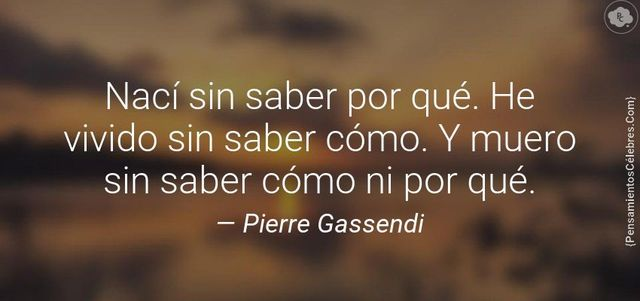 PIERRE GASSENDI (MUERTE)
