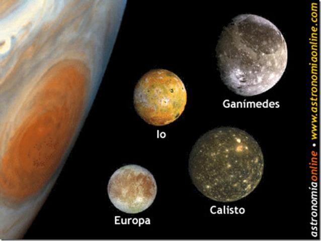 Galileo descubrió las cuatro lunas más brillantes de Júpiter