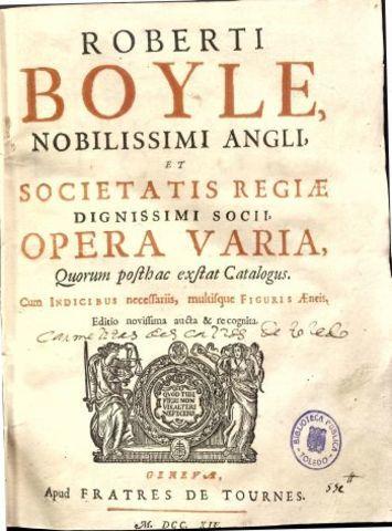 Boyle publicó El químico escéptico