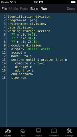 COBOL Invented Language Program