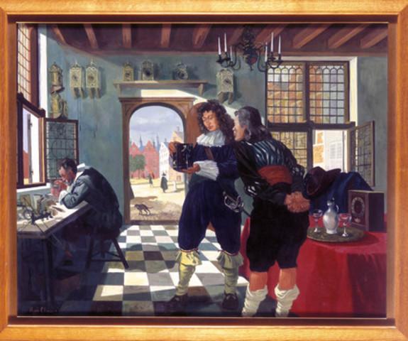 Huygens comienza a trabajar con su hermano Constantijn en el diseño y la construcción de una serie de telescopios.