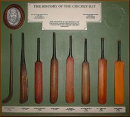 First ever mention of a cricket bat