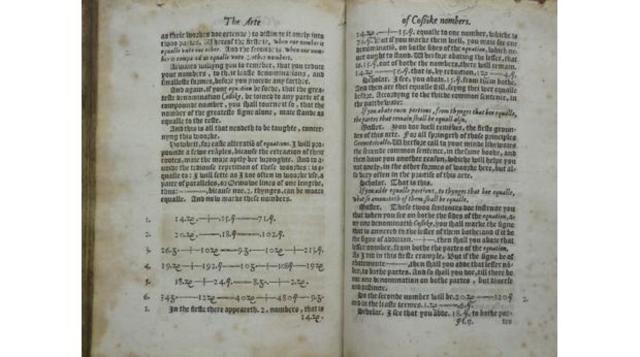 Los simbolos + y - se introducen en las matematicas en un libro del matematico Robert Recorde, titulado The Ground of Artes.