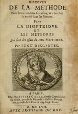 Año de publicacion del libro de Descartes, titulado Discours de la Methode pour bien conduire la raison et chercher la Verite dans les sciences.