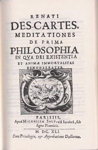 Año de publicacion de Meditationnes de Prima Philosophia, por Descartes.