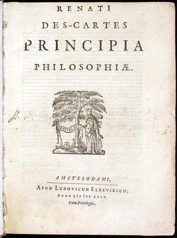 Se publica la tercera contribución más importante de Descartes, titulada Principia Philosophiae.