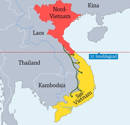 Vietnam blir delt i to