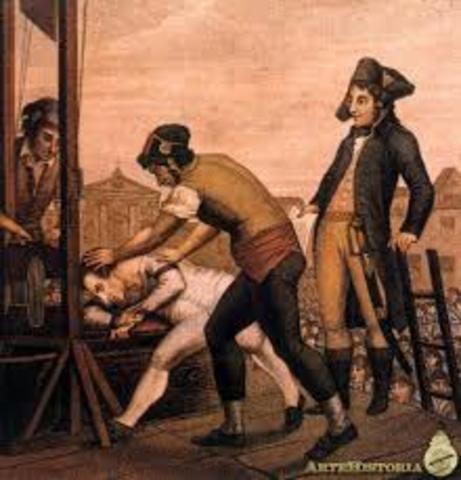 la ejecución de Robespierre