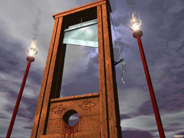 Instauración de la guillotina