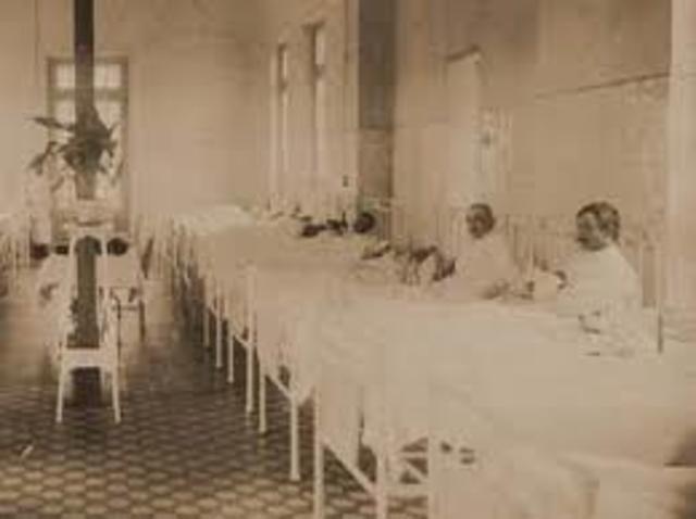 Los primeros hospitales militares