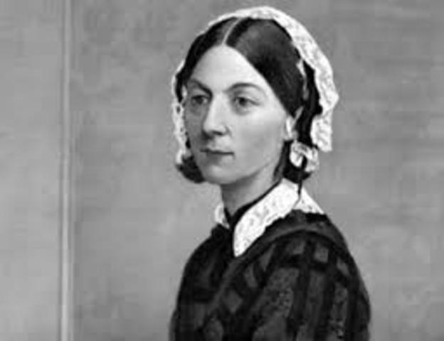 Florence Nightingalecomienza a estudiar enfermeria