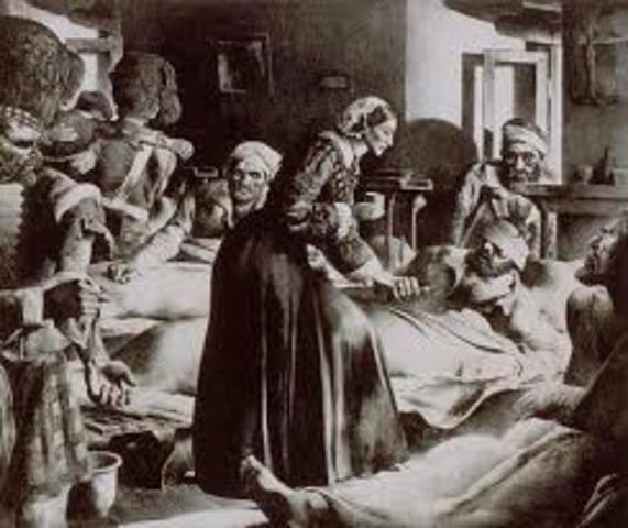 Florence Nightingale es mandada a la guerra