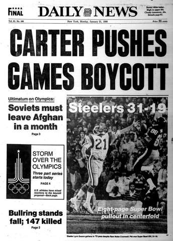 USA announces boycott of 1980 Olympics