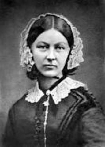Florence Nightingale arrives to the camp