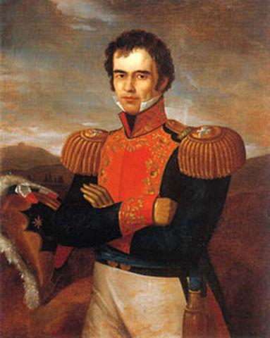 Guadalupe Victoria como 1er presidente