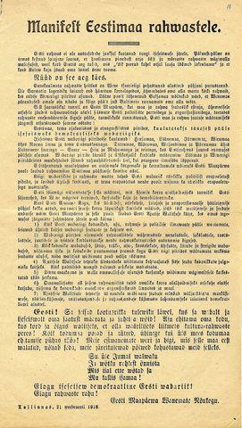 Iseseivsusdeklaratsiooni ettelugemine