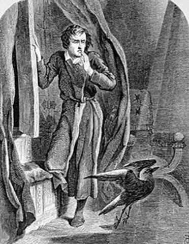 Poe publishes the poem, The Raven