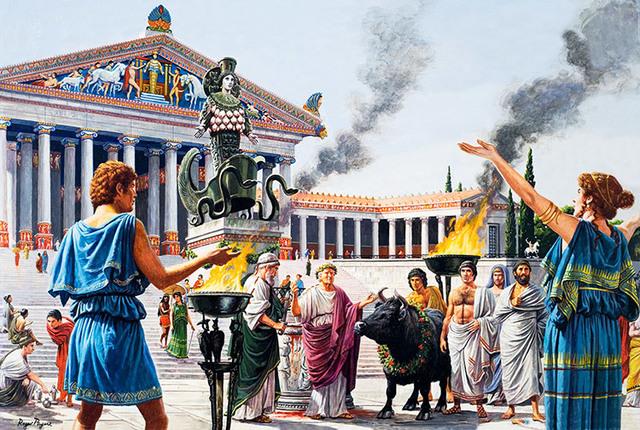 La antigua Grecia, Roma y Egipto