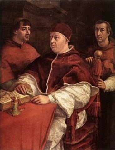 pope Leo X (pre-reformation)