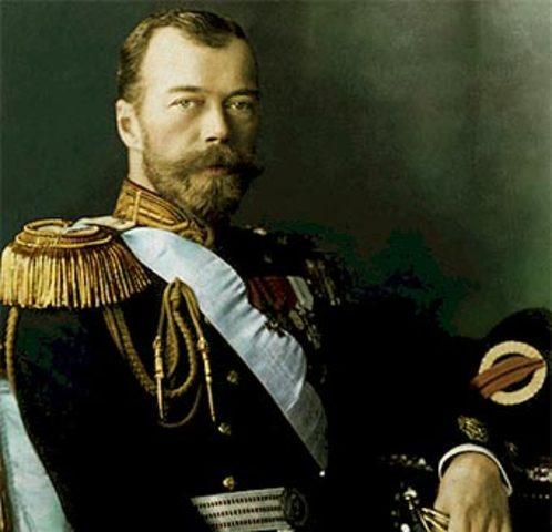 Tsar Nicholas II (18 may 1868 - 17 july 1918)