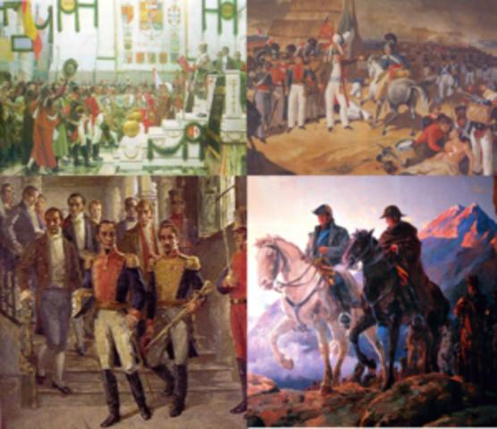 Fases de la independencia de las colonias hispanoamericanas (1808-1898)