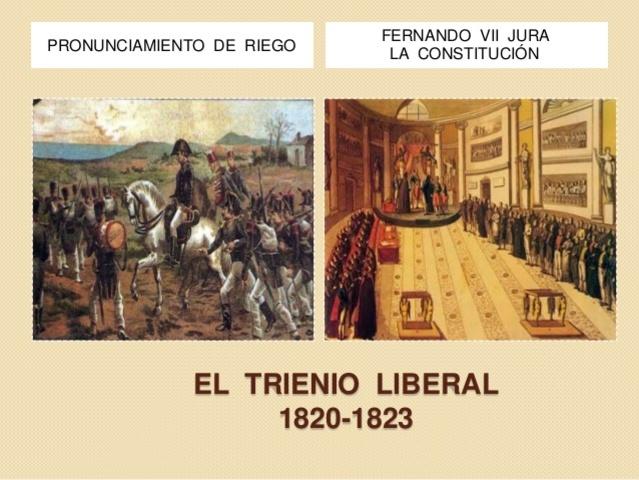 El Trienio Liberal   (1820-1823)