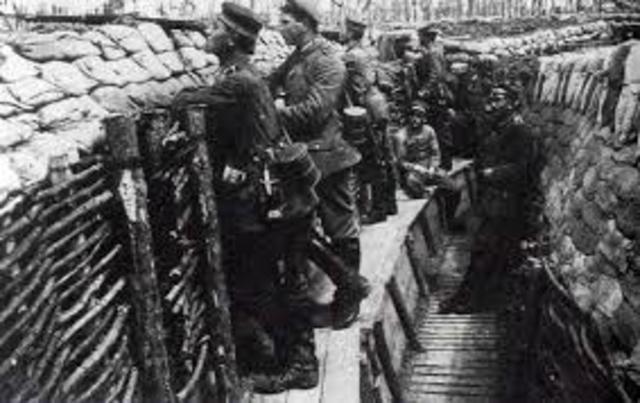 La guerra de posiciones, de desgaste o de trincheras  (1915-1916)