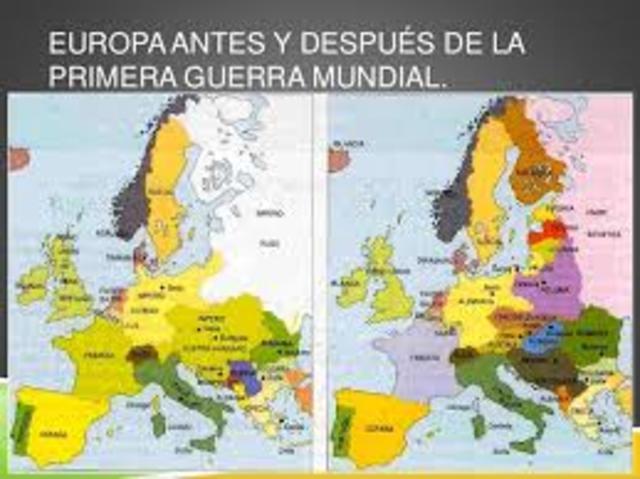 Los cambios territoriales tras la Primera Guerra Mundial