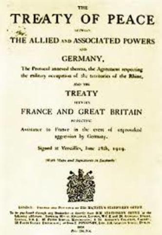 Alemania tras la firma del Tratado de Versalles.