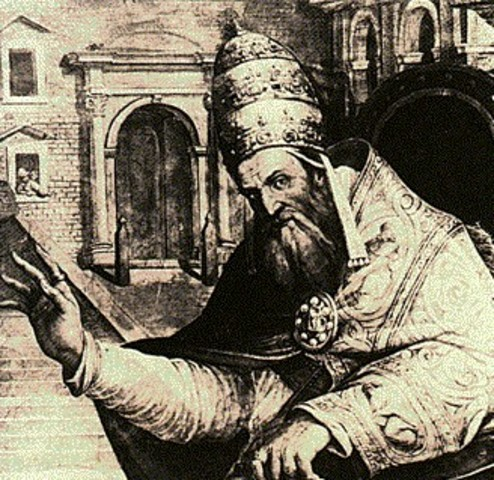 Pope Gregory moved the papacy back to Rome
