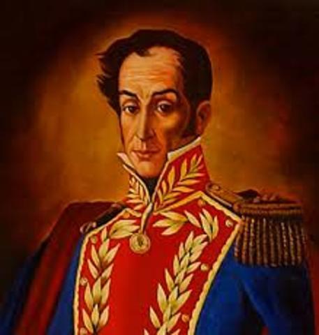 Simón Bolivar      (24 julio 1783  -  17 dic 1830)