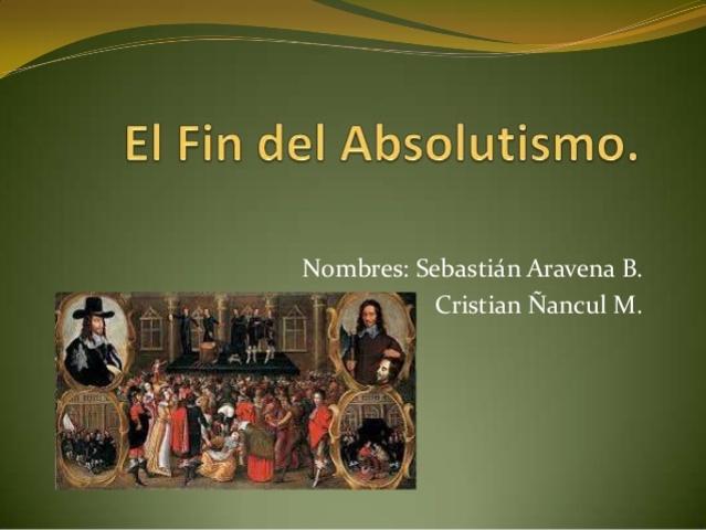 El final del Absolutismo   (1823-1833)