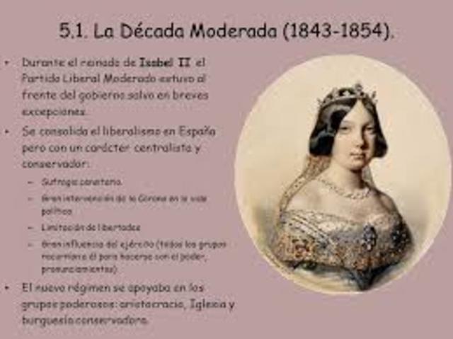 La Década Moderada   (1833-1844)