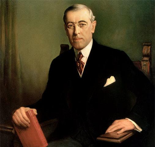 Thomas Woodrow Wilson (28th dec 1856 - 3 feb 1924)