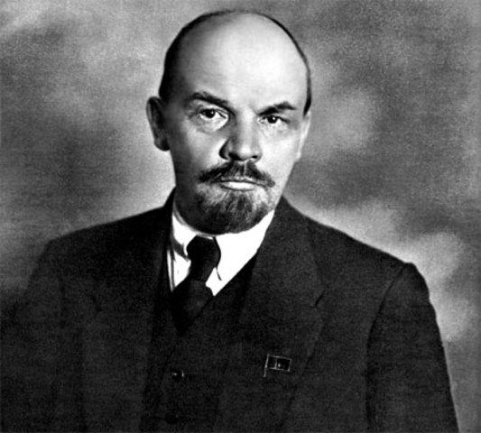 Vladimir Lenin (22 April 1870 - 21 Jan 1924)