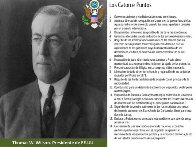 Los catorce puntos de Wilson