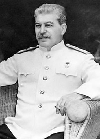 Joseph Vissarionovich Stalin (18 Dec 1878 - 5 March 1953)