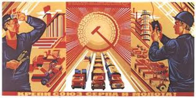 El Desarollo industrial en la URSS de Stalin