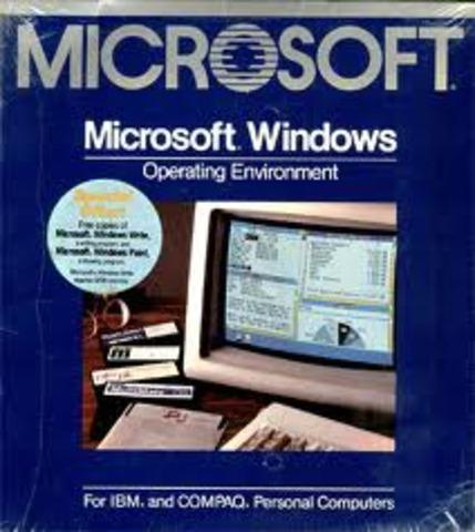 A Microsoft lança no mercado o programa de interface Windows