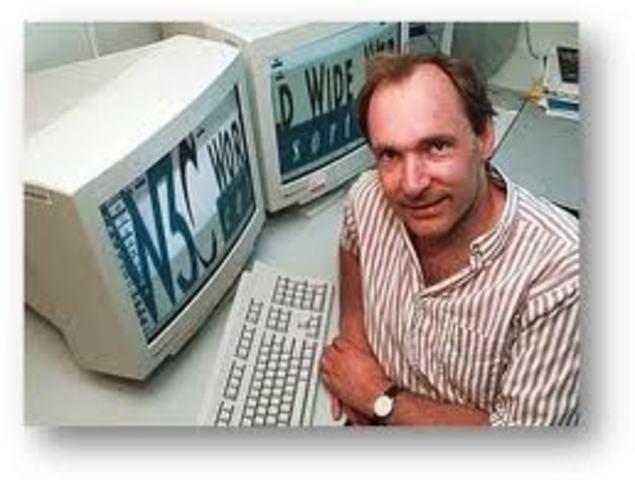 Tim Berners-Lee desenvolve a World Wide Web
